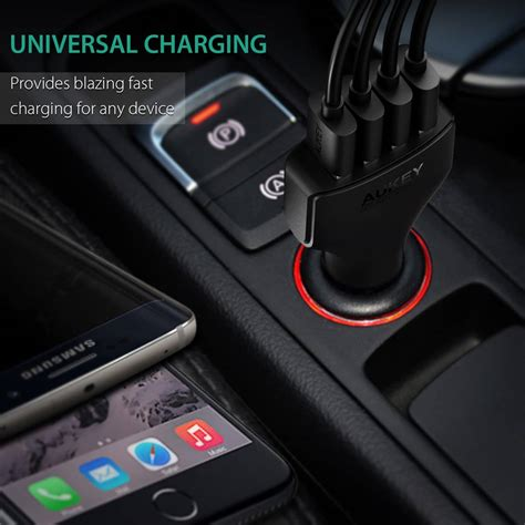 Aukey Oc 3 0 Cc T9 Car Charger aukey cc t9 qualcomm charge 3 0 in car charger 55 5w