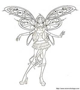 coloring Fairy, page winx club bloom fairy U Coloring Page