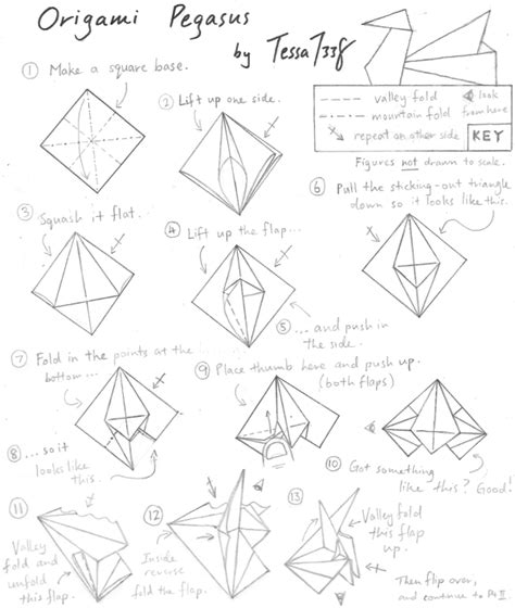 Origami Pegasus Diagram - origami diagrams cake ideas and designs