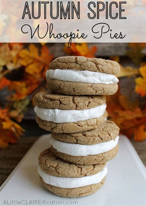 autumn spice whoopie pies recipe pinterest easy fall desserts fall desserts and spice