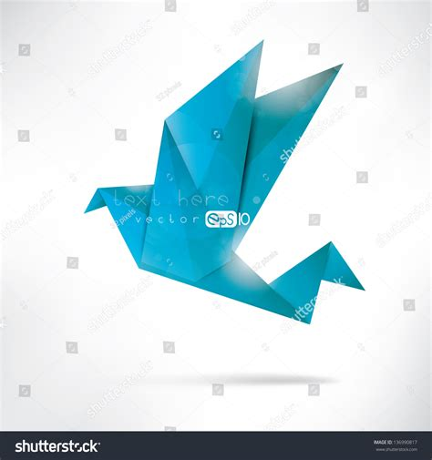 History Of Origami Cranes - origami paper birdvector illustrationpolygonal shape paper