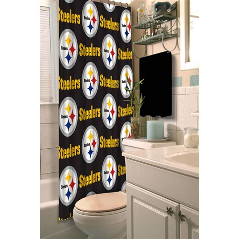 steelers bathroom accessories d4a842a846ba 1 curtain nfl pittsburgh steelers decorative