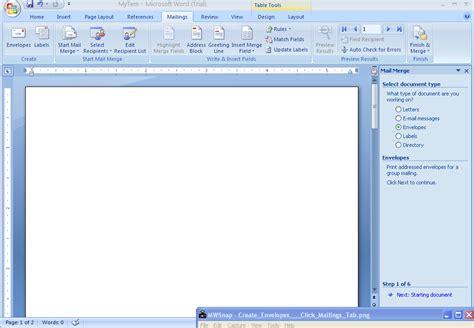 Microsoft Office Word 2007 Create Envelopes Label Envelopes 171 Mail Merge