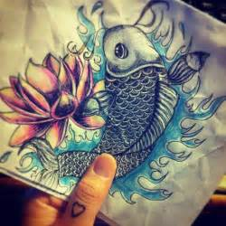 Koi Fish And Lotus Flower Koi Fish Lotus Flower Lotus Flowers
