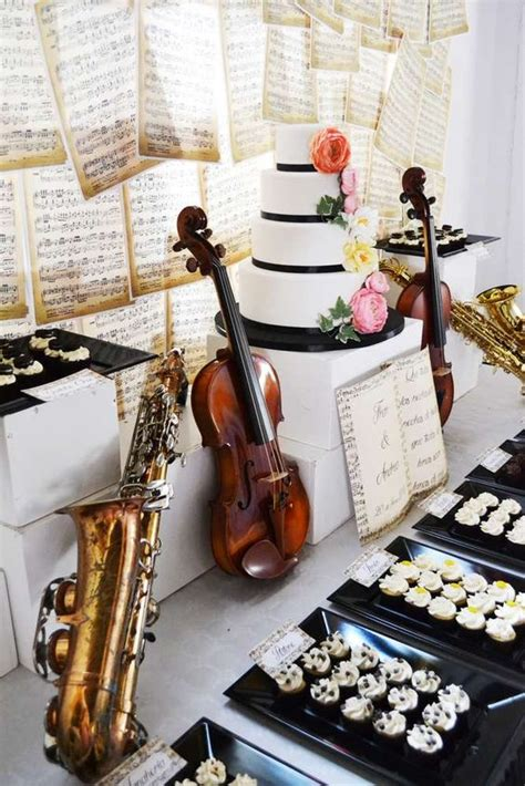 music themed 20 wedding ideas for music lovers pretty designs