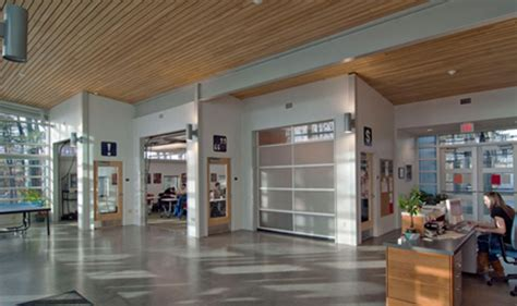Green Stock Green Building Design Center Garage Door Interior