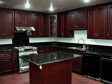 baked on paint finish for kitchen cabinets cherry kitchen cabinets beech wood dark cherry color