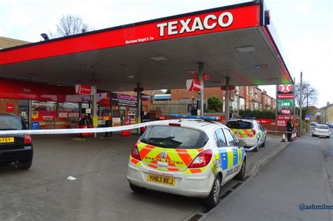 Texco Garage by Hunt Armed Raiders Who Struck At Texaco Garage In