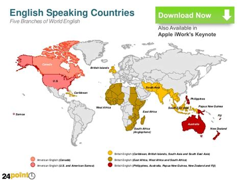 west countries that speak speaking countries map powerpoint