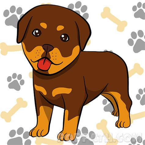 how to draw a rottweiler here is your new drawing of the beautiful rottweiler now all you to do is color