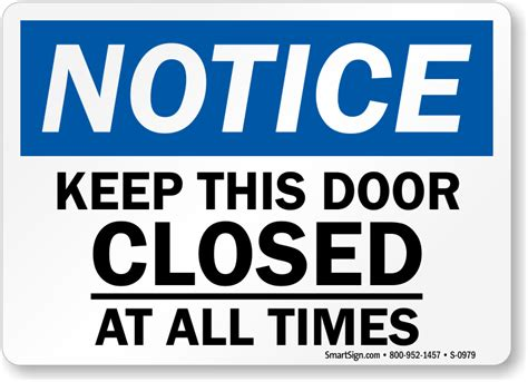 Keeping Bedroom Doors Closed Free Door Signs Free Downloadable Sign Pdfs