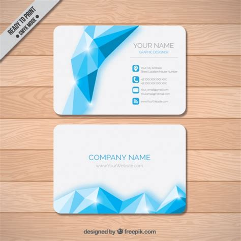 shiny card template shiny polygonal business card vector free