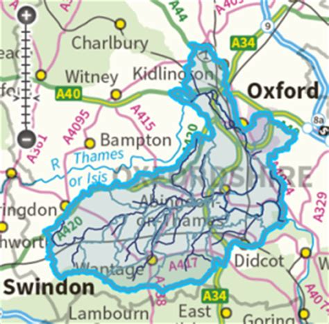 river thames catchment area map river ock catchment project freshwater habitats
