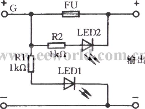 what is diode fuse how it is working fuse indicator circuit with light emitting diode led and light circuit circuit diagram