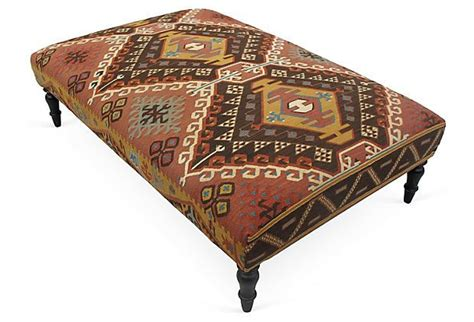 kilim covered ottoman 17 best images about yas s upholstered ottomans ideas on