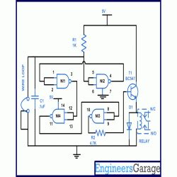 luggage home security alarm circuit diagram