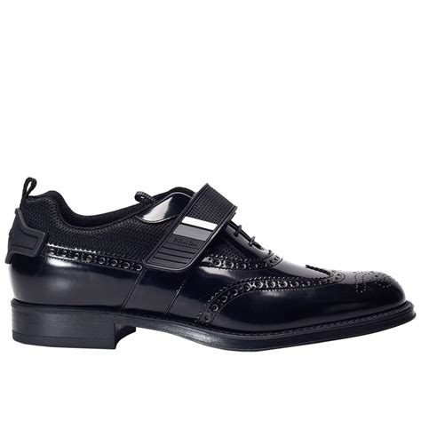 prada shoes for lyst prada shoes in black for
