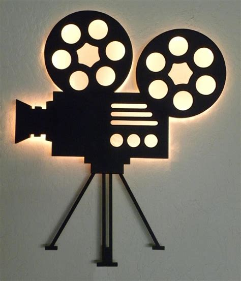 home movie theater wall decor authentic film reel movie camera wall decor home theater