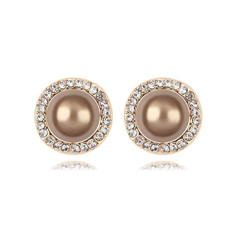 antique classic simple gold plated stud earrings