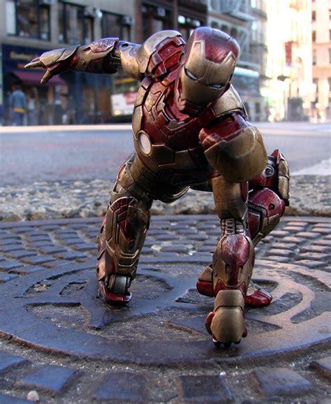 Marvel Select Iron 42 Battle Damaged iron 3 marvel select figures at disney store raving maniac