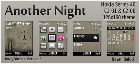 nokia 2690 galaxy themes another night animated theme for nokia c1 01 c2 00 2690