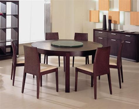 modern round dining room tables ferrara modern round wood dining table furniture home