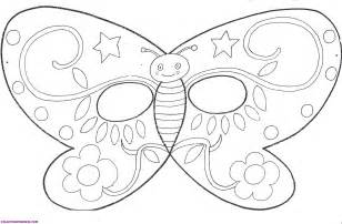 Butterfly Mask Template by Free Coloring Pages Of Butterfly Mask