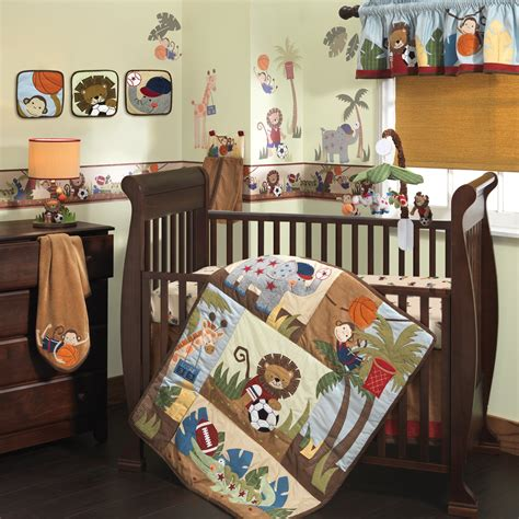 lambs and ivy bedding lambs ivy team safari 9 piece crib bedding set ideal baby