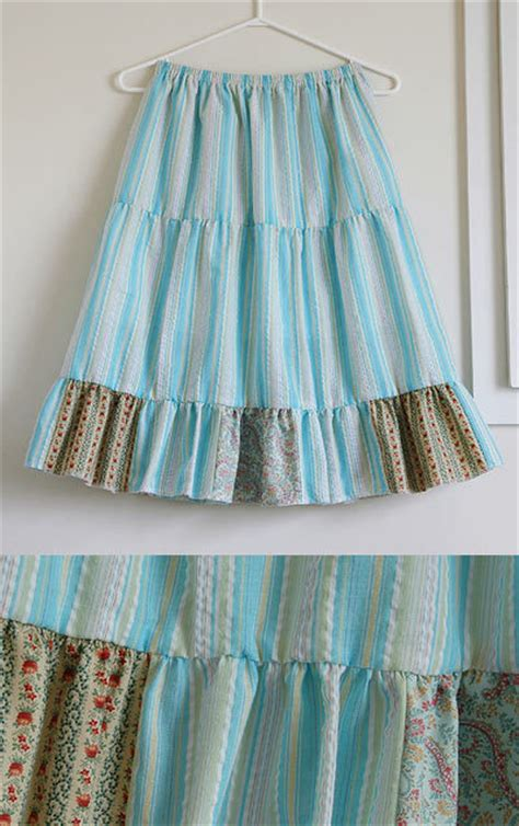 Patchwork Skirt Pattern Free - patchwork tiered skirt sewing projects burdastyle