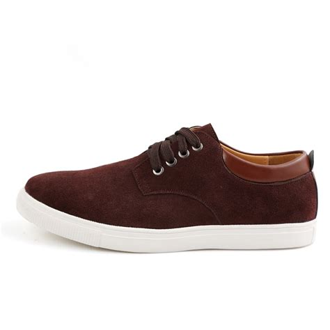 Comfortable Casual Shoes by S Suede Leather Comfortable Casual Shoes Big Size