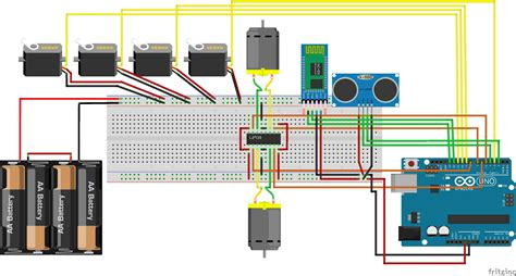 connecting  servos  motors hc  sr   ld