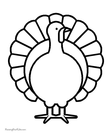 turkey coloring pages for kindergarten preschool thanksgiving coloring pages 001