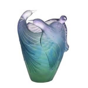 vase oiseaux paradis daum vessiere cristaux