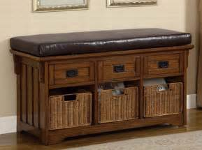 Homelegance Bedroom Dark Oak High Storage Bench Benches