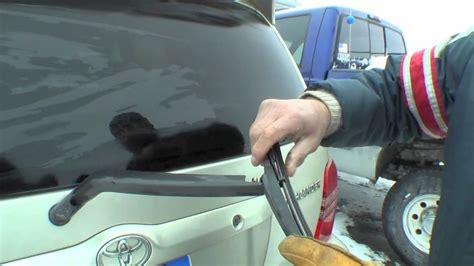 repair windshield wipe control 2001 toyota sienna user handbook how to change a rear windshield wiper on a toyota youtube
