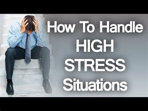 7 Tips On How To Handle A Moody Person by How To Handle High Stress Environments 5 Tips Prepare