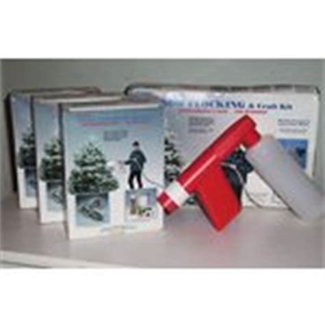 sno jet snow flocking kit 3lbs refill tree snow flock