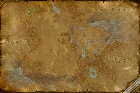 Razorthorn Shelf Map by The Barrier Zone World Of Warcraft Patch 6 0 3 Live