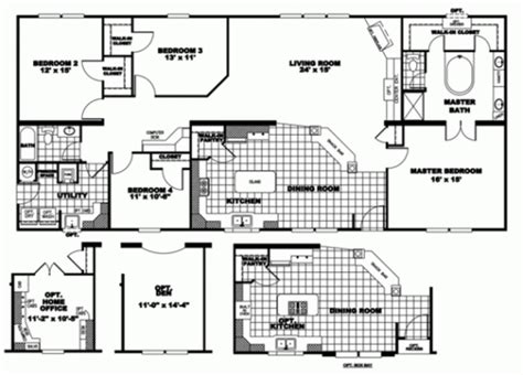 4 bedroom manufactured homes modular home floor plans and designs pratt homes 3 bedroom