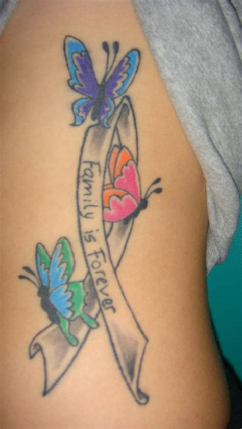 butterfly ribbon tattoo designs cancer tattoos designs ideas and meaning tattoos for you
