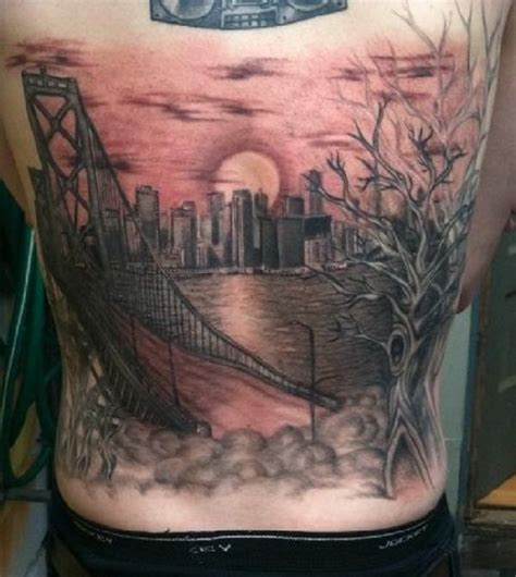 golden gate bridge tattoo around the world in 9 travel inspired tattoos easyvoyage