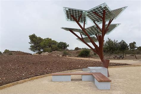 solar power tree solar powered trees provide free wi fi cool water and