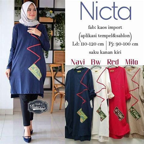 Tunik Rubiah Pakaian Wanita grosir pakaian wanita nicta tunik grosir baju muslim