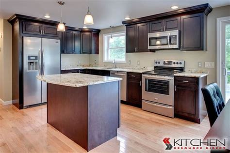 kitchen cabinets l shaped l shaped kitchen with island dark wood cabinets add