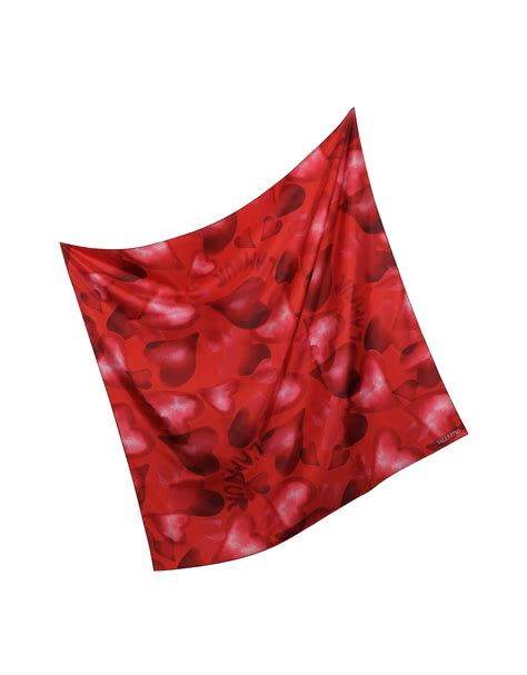 Square Scarf lyst valentino camuamour print silk square scarf in