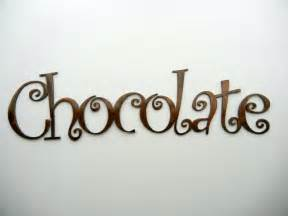 Hourglass Home Decor Chocolate Metal Word Art