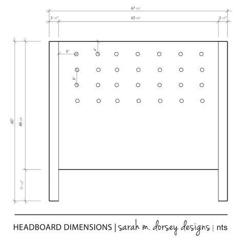 queen size headboard dimensions sarah m dorsey designs diy headboard complete