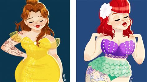 these curvy pin up disney princesses are badass and