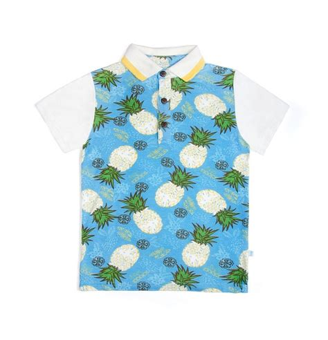 Pineapple I Mommyi s s pineapple print polo