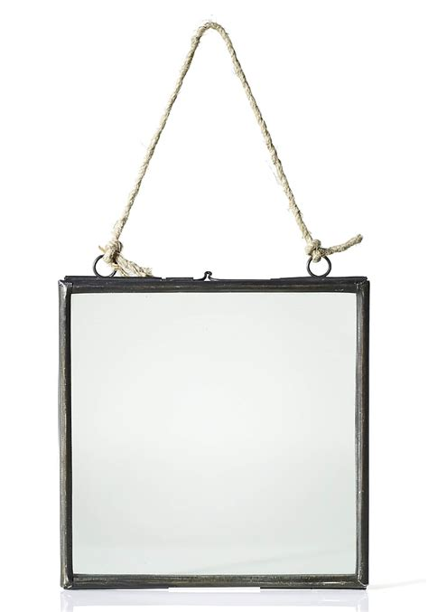 frame hanging hanging metal double glass frame 6x6 25